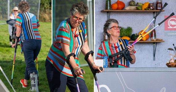 Prue Leith sports crutches and cast after mystery injury ahead of Great British Bake Off launch
