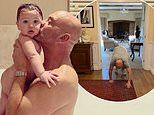 Gregg Wallace, 55, shares a bath with his sonSid Massimo, 11 months,during coronavirus lockdown