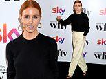 Stacey Dooley stuns in cream high-waisted trousers at the Women in Film and TV Awards