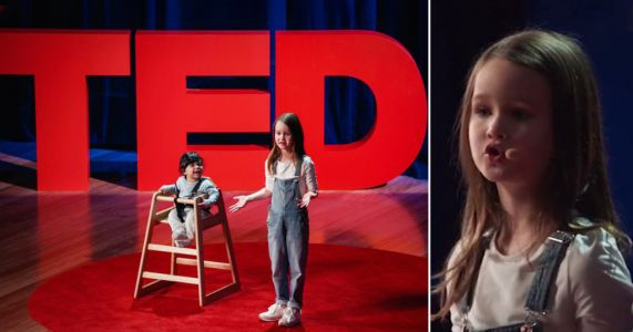 Girl dubbed 'next Greta Thunberg' gives TED talk aged just seven on better parenting
