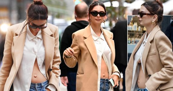 Emily Ratajkowski flashes bare bump after confirming she is 20 weeks pregnant with first child