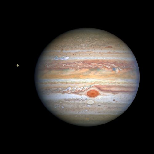 Jupiter looms large in spectacular Hubble image