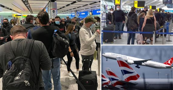 Heathrow queues branded 'like a petri dish' as international travel resumes
