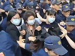 Massive brawl breaks out between Taiwanese politicians