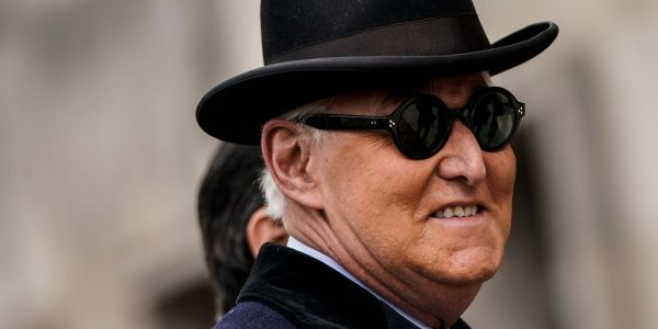 Roger Stone calls for Trump to declare 'martial law' if he loses the election, and order the arrest of Mark Zuckerberg, Tim Cook, and the Clintons