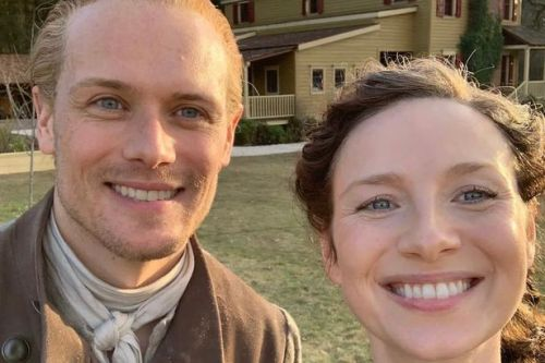 Sam Heughan and the cast of Outlander have congratulated fellow actor Caitriona Balfe on her latest US award win