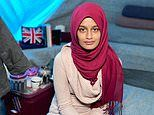 Jihadi bride Shamima Begum shows off diamante nose-stud and union jack cushion in Syrian camp