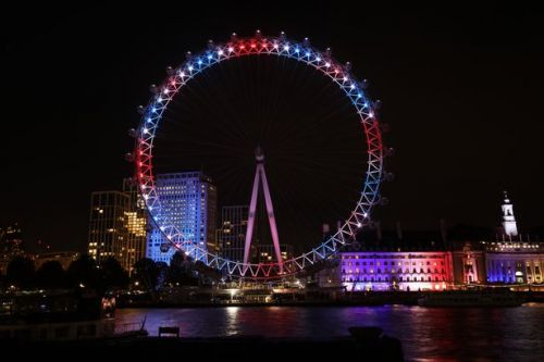 BT Tower and London Eye lit up to kick-off the Pride of Britain Awards countdown