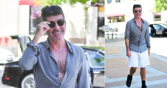 We're mildly obsessed with Simon Cowell's shorts, socks and chest combo