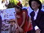 Meghan Markle ,8, shows off her star quality as she sings and dances as flapper for school show