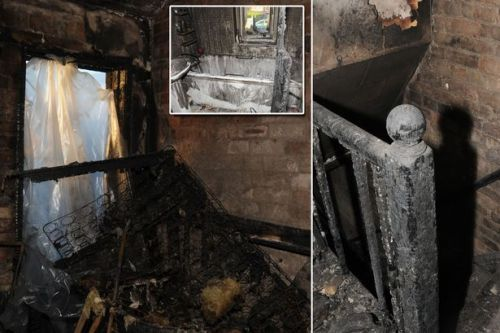 Horrifying photos show aftermath of petrol bomb attack on family home that killed four sleeping children and destroyed bedroom