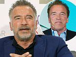 Arnold Schwarzenegger, 71, looks dapper as he shows off his natural grey locks at business forum