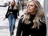 Kayla Rae Reid looks chic in a blazer and jeans combo as she stops by Playboy offices in LA