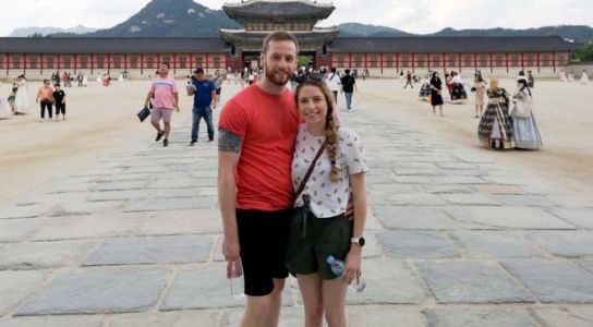 Rugby-loving Northern Ireland couple have a ball in Japan