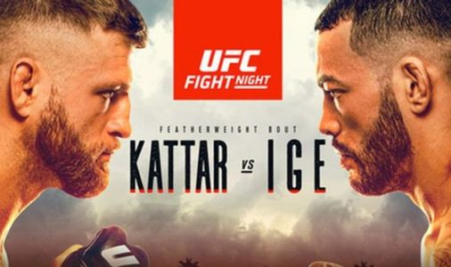 UFC Fight Night 172: UK start time, live stream, TV channel, fight card for Kattar vs Ige