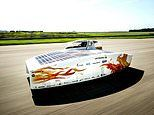 Solar powered car attempts to break world record by driving 550 miles in 12 hours