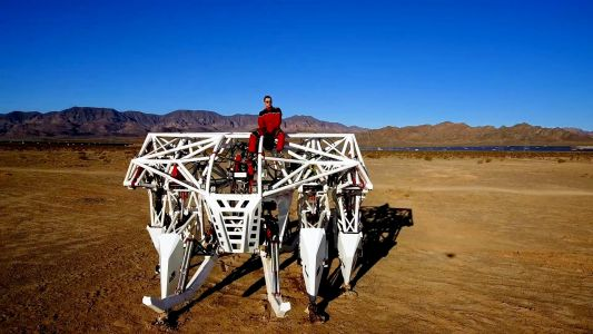 An inventor wants to use his 3,000-kilogram mechanical exosuit in a human-powered racing league