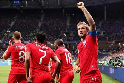 Who could England play in the World Cup 2018 knockout rounds?