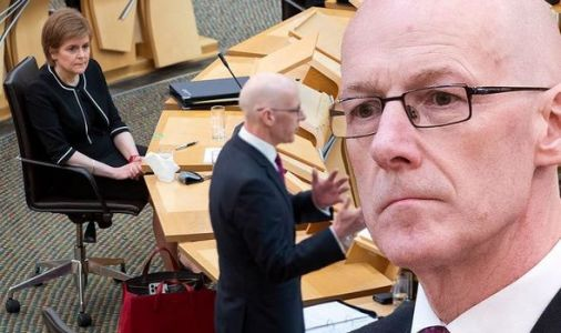 Time for the boot! Swinney on brink as Sturgeon 'strongly considers' sacking SNP chief