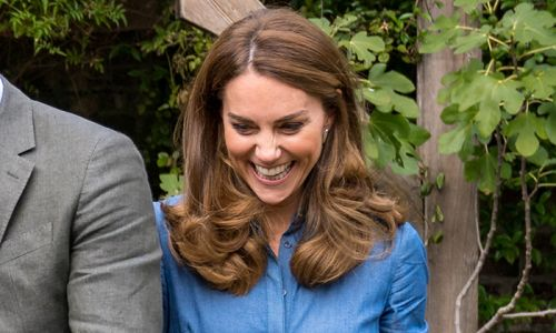 Kate Middleton stuns in chic denim shirt dress to meet Sir David Attenborough