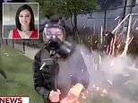 Scary moment MSNBC reporter is almost hit by flash bangs and tear gas live on the air in Seattle