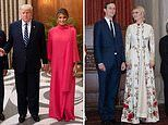 Melania Trump wears a $3,000 Carolina Herrera dress to state dinner in New Delhi