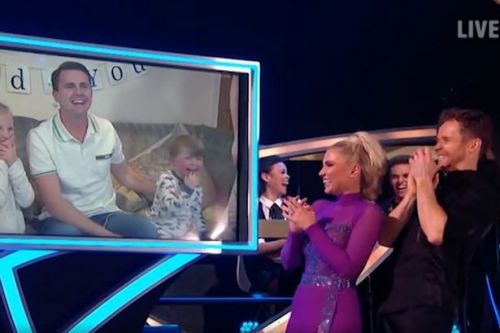 Billie Shepherd's adorable son Arthur gets the giggles in Dancing On Ice call