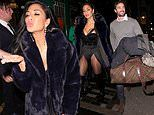 Nicole Scherzinger is supported by rumoured beau Thom Evans at her musical show