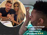 Katie Price is left in hysterics after son Harvey, 18, does impression of her boyfriend Carl Woods