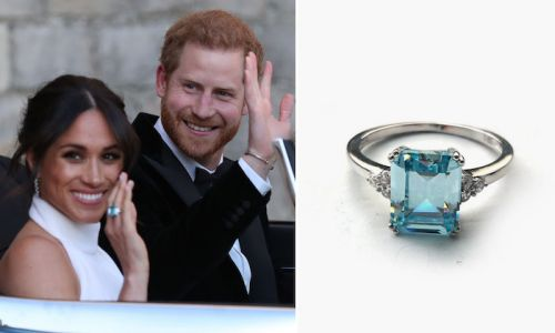 You can now buy a £30 dupe of Meghan Markle's aquamarine ring from Princess Diana's collection