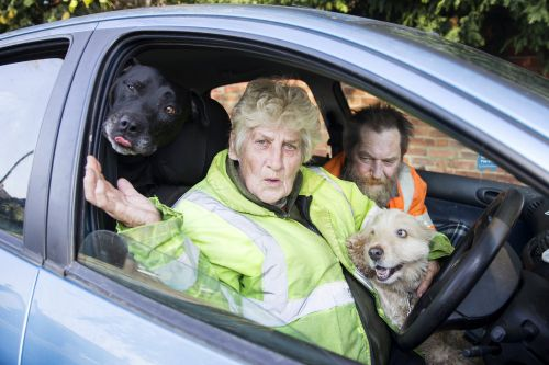 Homeless couple 'forced to live in car with dogs because landlords refuse pets'