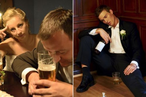 'Selfish' groom gets so drunk on wedding day he passes out leaving wife in tears