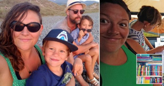 Parents leave the daily grind behind to 'roadschool' their kids in classroom campervan