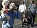 Joe Wicks enjoys family stroll with wife Rosie and their children Indie and Marley