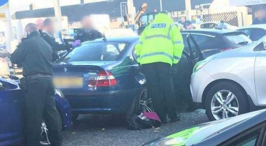 Belfast police chase ends in Co Down town in crash with patrol cars