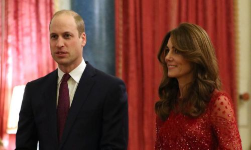 Kate Middleton glams up in sparkly gown at Buckingham Palace with Prince William