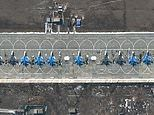 On a Russian base just 100 miles from the border, 15 supersonic strike jets await Putin's orders