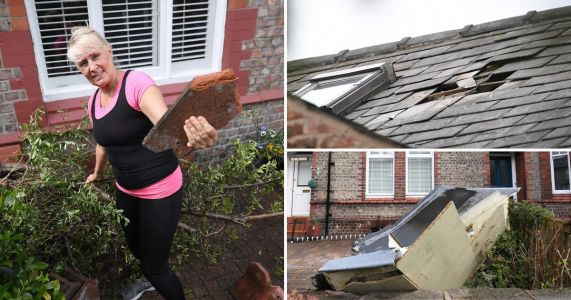 Tornado ravages Manchester homes causing roofs to fly at cars