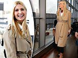 Ivanka is all smiles as she prepares to fly commercial to Ethiopia and Ivory Coast