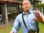 Shocking moment face-tattooed man attacks TV crew outside of Brisbane court