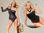 Tess Daly, 51, shows off her phenomenal frame in a slinky off-shoulder swimsuit for Woman's Health