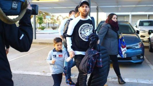 Lionel Messi and son lead European superstars past and present to watch Copa Libertadores final at home of Real Madrid
