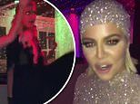 Khloe Kardashian wears bedazzled gown as she grinds on Paris Hilton during Kourtney's birthday