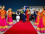 India welcomes Dutch King Willem-Alexander and Queen Maxima to Delhi with colourful dancing display