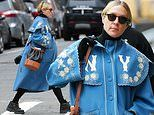 Chloe Sevigny keeps baby bump warm in cheerful floral coat as she steps out in NYC