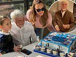 Tamara Ecclestone surprises father Bernie with a personalised cake to celebrate his 90th birthday