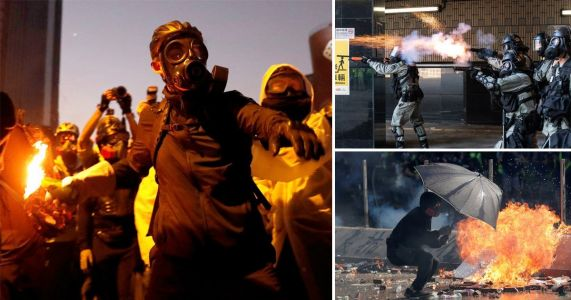 Violence breaks out in Hong Kong as police put university under siege
