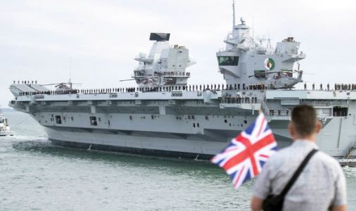 HMS Queen Elizabeth: Britain's new £3.1 BILLION carrier sets sail on maiden voyage to US