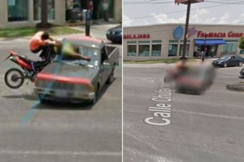 Google Maps Street View catches photo of brutal crash between motorcycle and truck