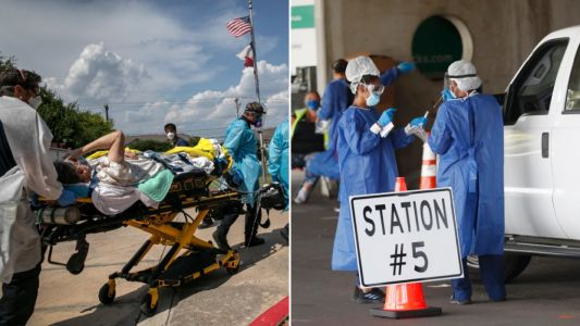 US Covid cases keep falling as hotspot Florida records worst death toll since outbreak began